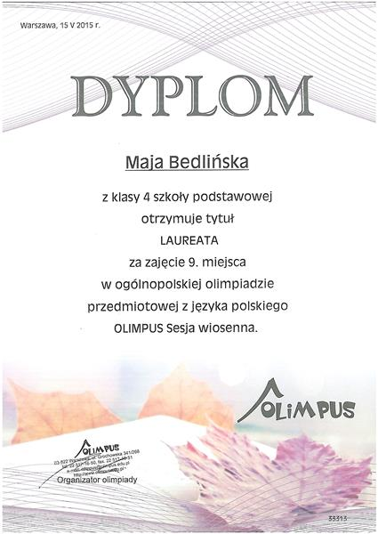 dyplom-Maja-Bedlińska
